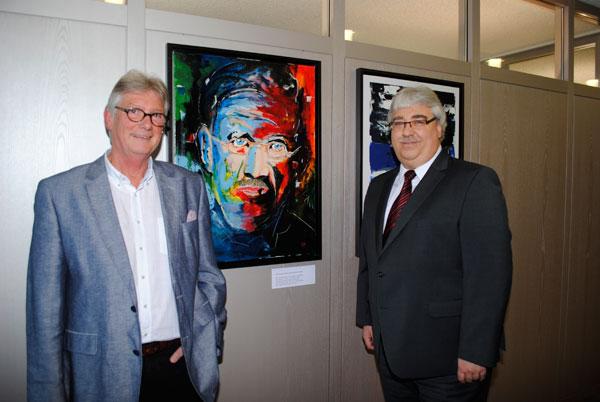 Klaus Küpper und Ludger Kanders (Vermögensbetreuer der Volksbank Kleverland)