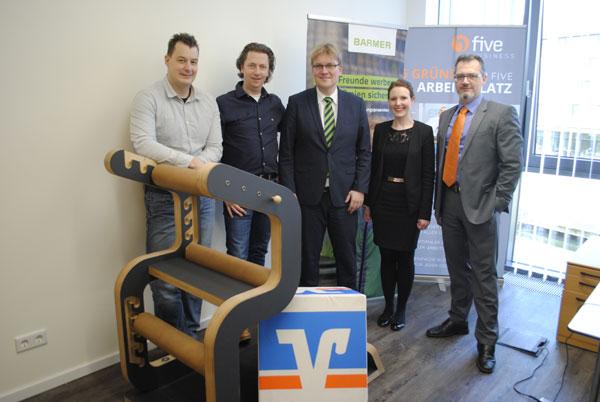 Volksbank Kleverland bietet ihren Mitarbeitern ein Rücken- und Gelenkkonzept