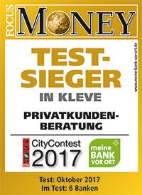 Volksbank Kleverland eG Testsiger in der Privatkundenberatung