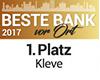 """Volksbank Kleverland eG erneut """"Beste Bank vor Ort"""