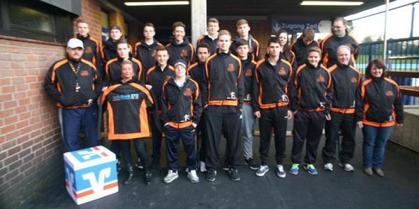 Ein Gruppenfoto des Eishockey-Teams Grefrath Phönix