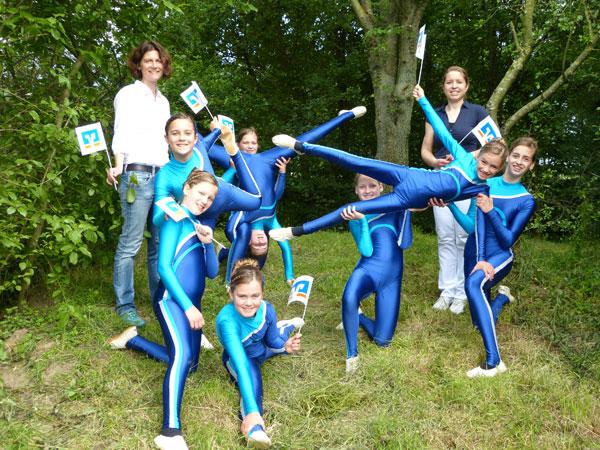 Gruppenfoto Team 6 beim Verein für Voltigiersport