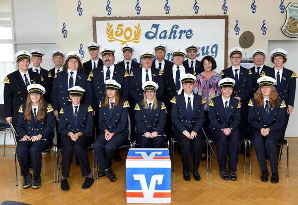 Gruppenfoto Marine-Spielmannszug Schenkenschanz