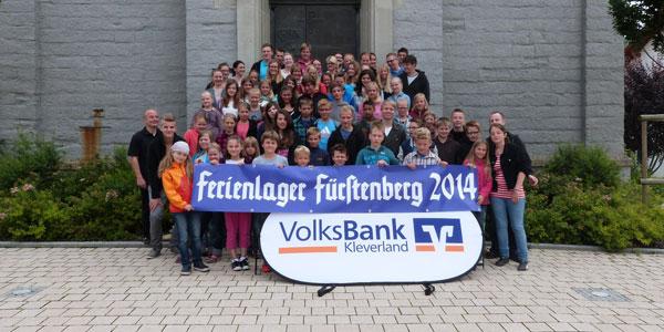 Gruppenfoto Ferienlager Fürstenberg 2014