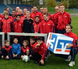 Gruppenfoto Jugendabteilung 1. FC Kleve