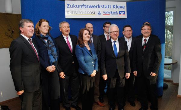 Die Teilnehmer an der Zukunftswerkstatt Kleve. RP-Foto: Gottfried Evers